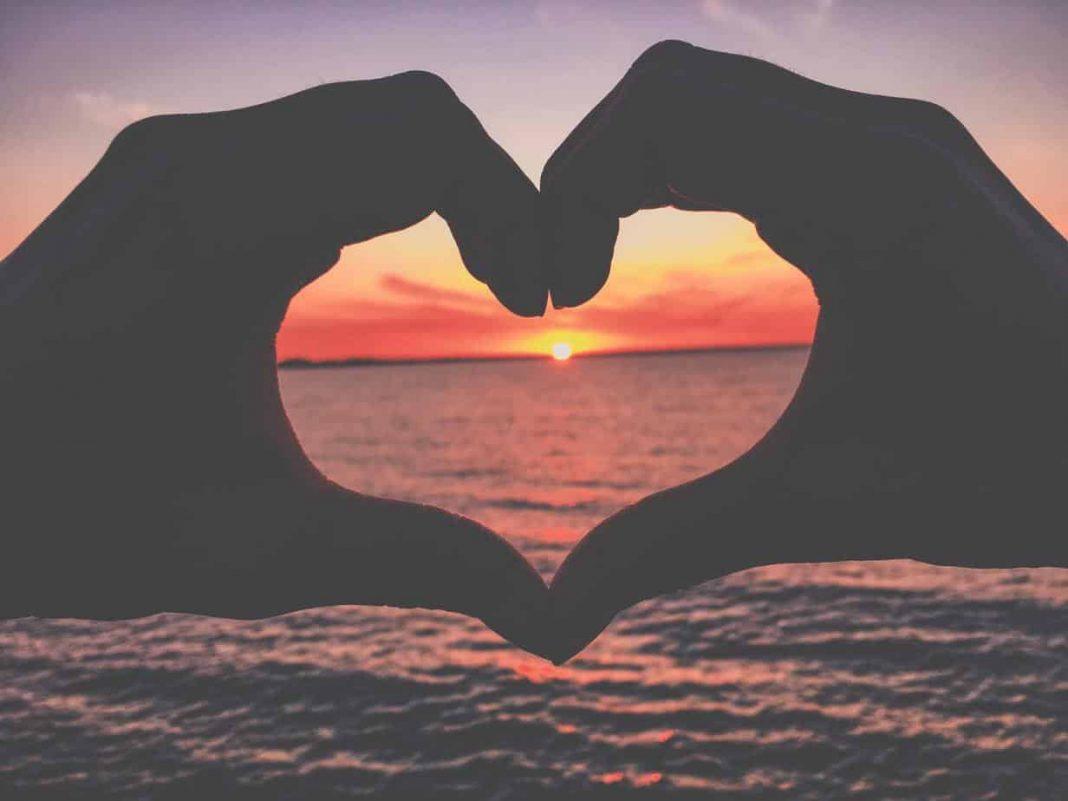 Sunset heart.
